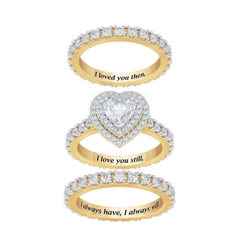 love everlasting stacking ring set UK LESRS d four