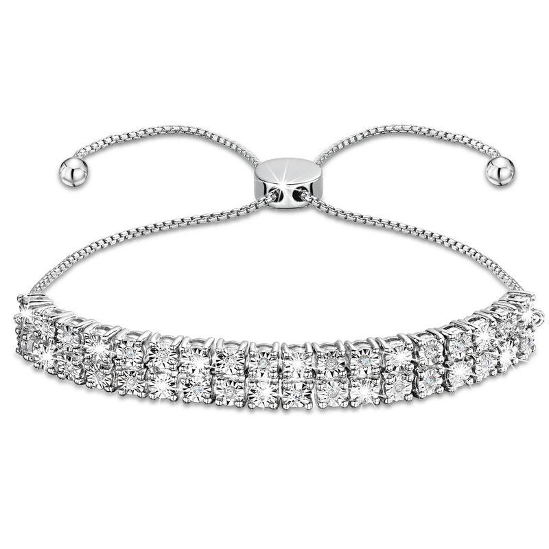 three dozen diamond silver bracelet UK TDDSB a main