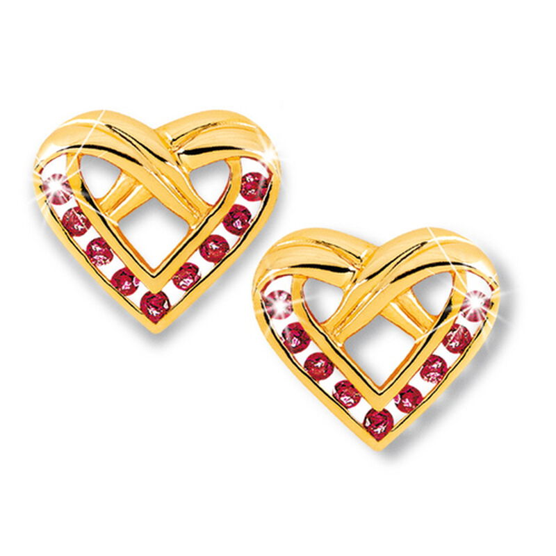 ruby heart earrings UK RHEL3 a main