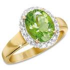 peridot and diamond 9ct gold halo ring UK PDGHR a main