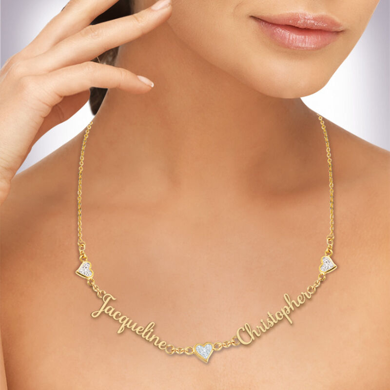yours truly diamond necklace UK PSCN b two