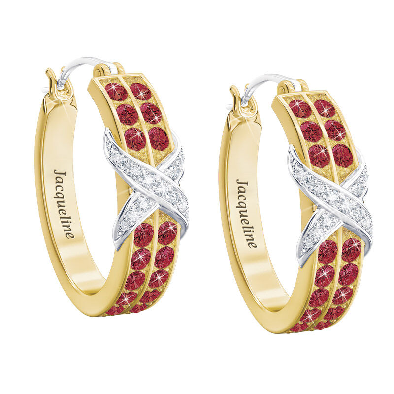 birthstone diamond kiss personalised ear UK BDKPE g seven