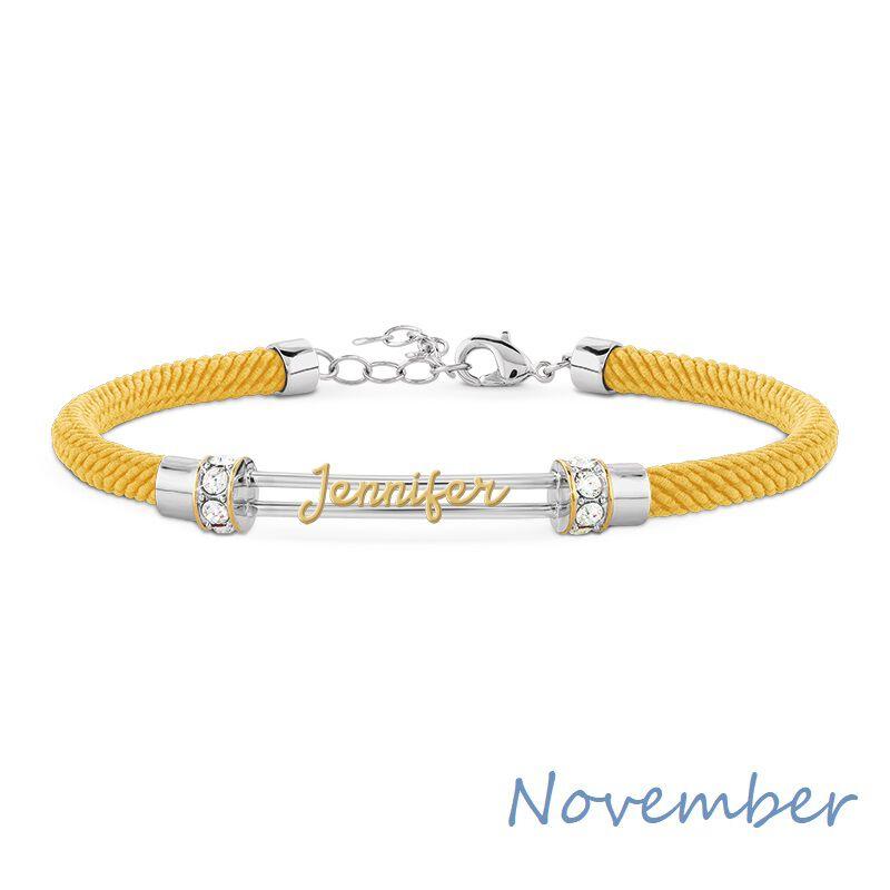 personalised birthstone rope bracelet UK PBRB2 l twelve