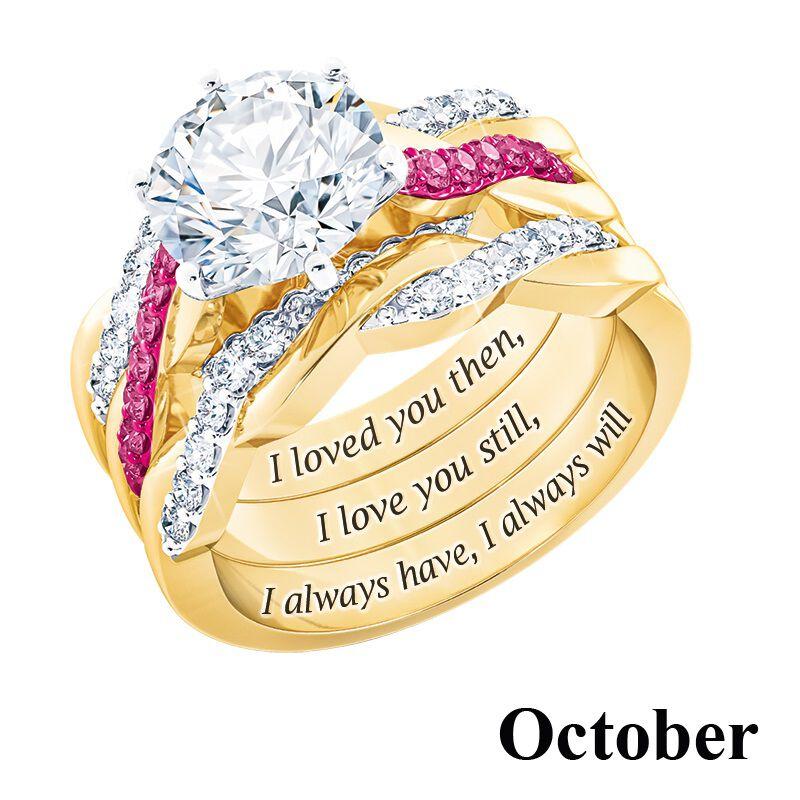 i still do birthstone ring set UK BSDRS l twelve