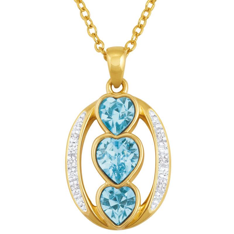 i love you birthstone pendant UK ILYBP2 c three