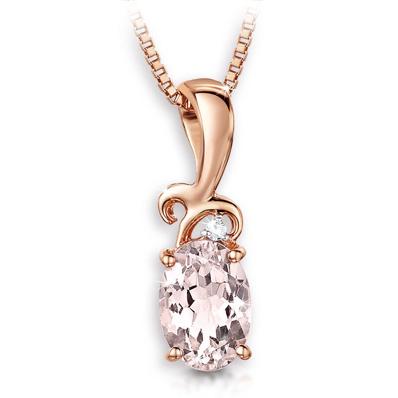 desire morganite and diamond pendant UK DSMDP a main