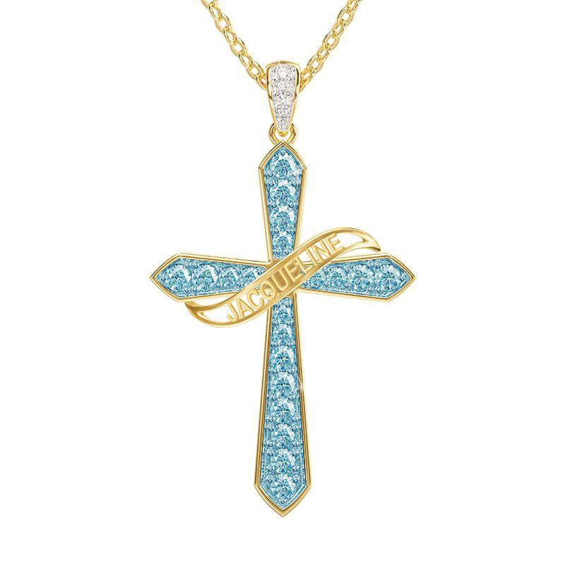 birthstone diamond personalised cross ne UK BSPCN g seven