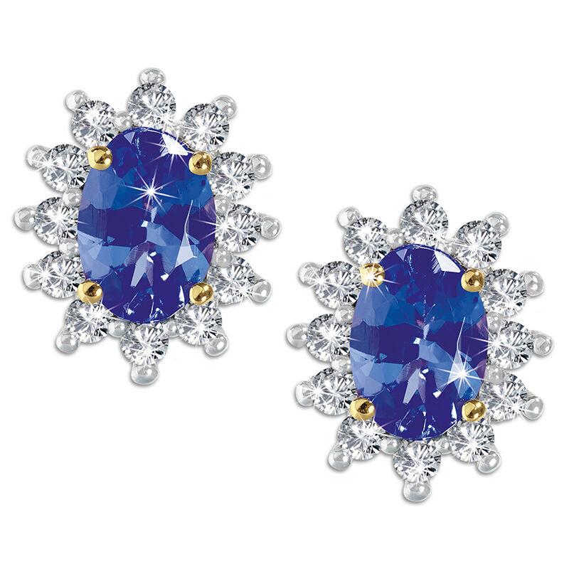 regal tanzanite earrings UK REGTE a main