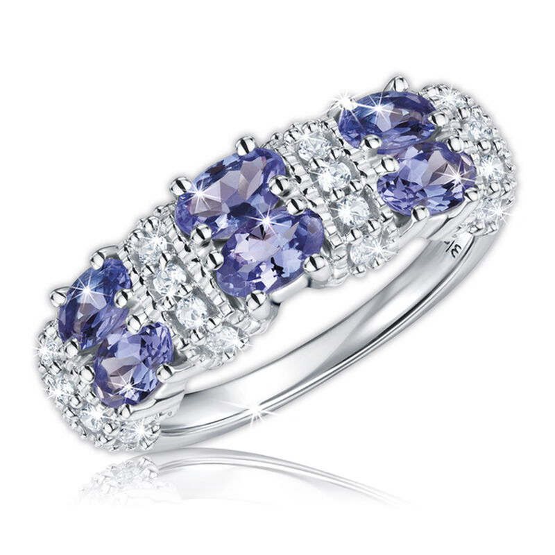 super sparkle tanzanite silver ring UK XTSSR a main