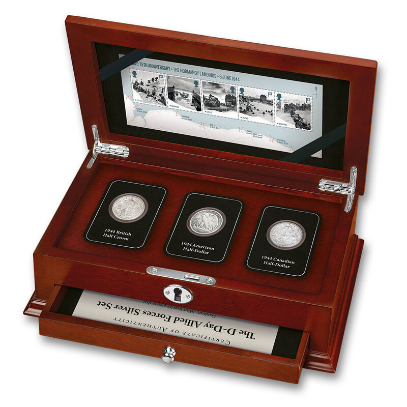 the d day allied forces silver set UK DDAF a main