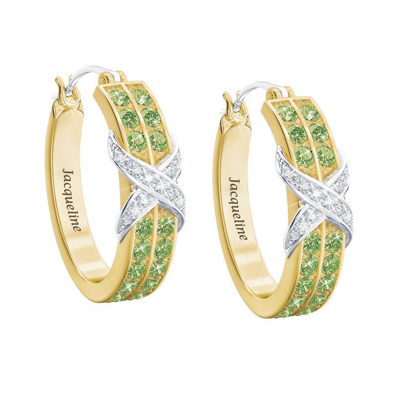 birthstone diamond kiss personalised ear UK BDKPE h eight