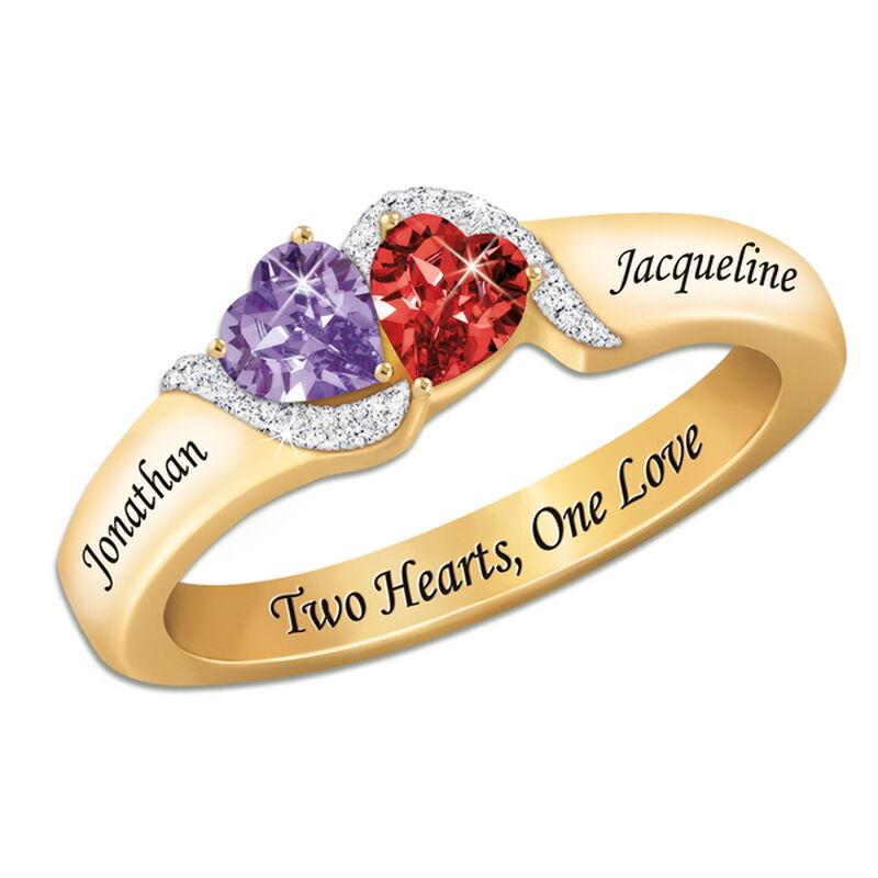 love everlasting diamond birthstone ring UK THOLR2 a main