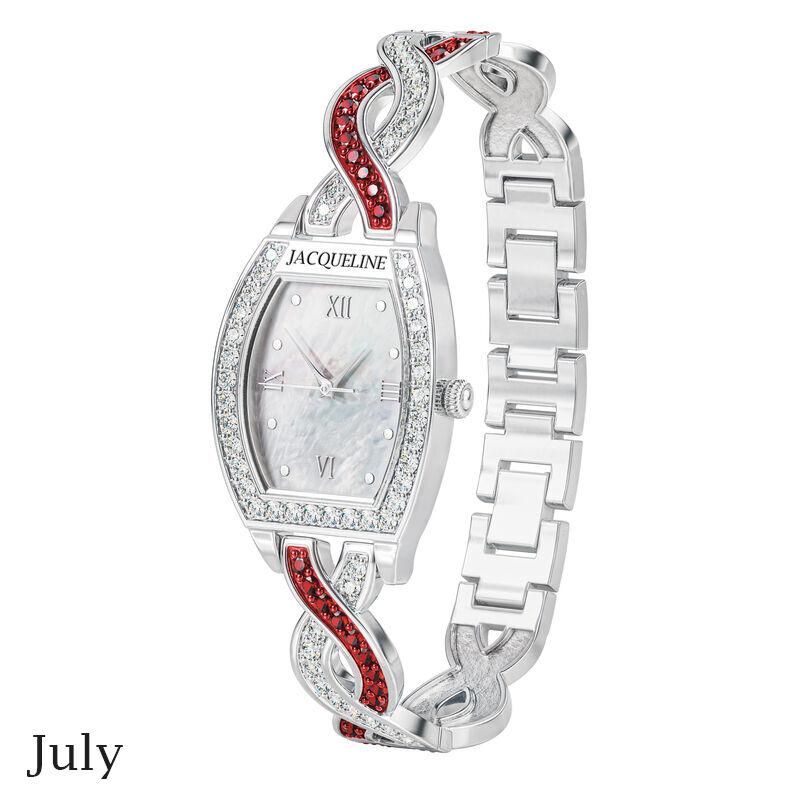 birthstone swirl bracelet watch UK BSWB g july