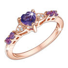 amethyst heart and rose ring UK AHRR a main