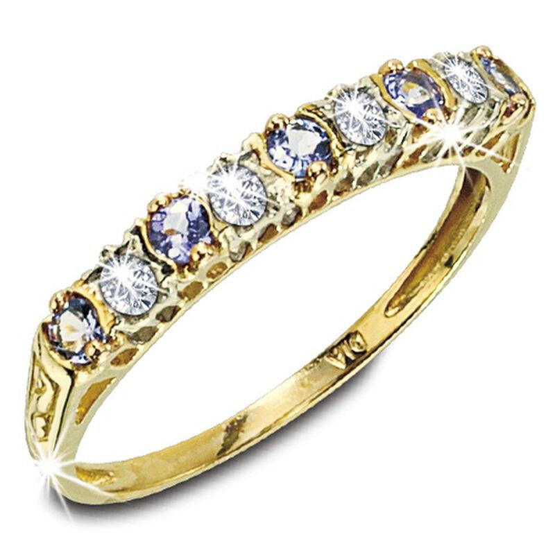tanzanite eternity 9ct gold ring UK TZER2 a main