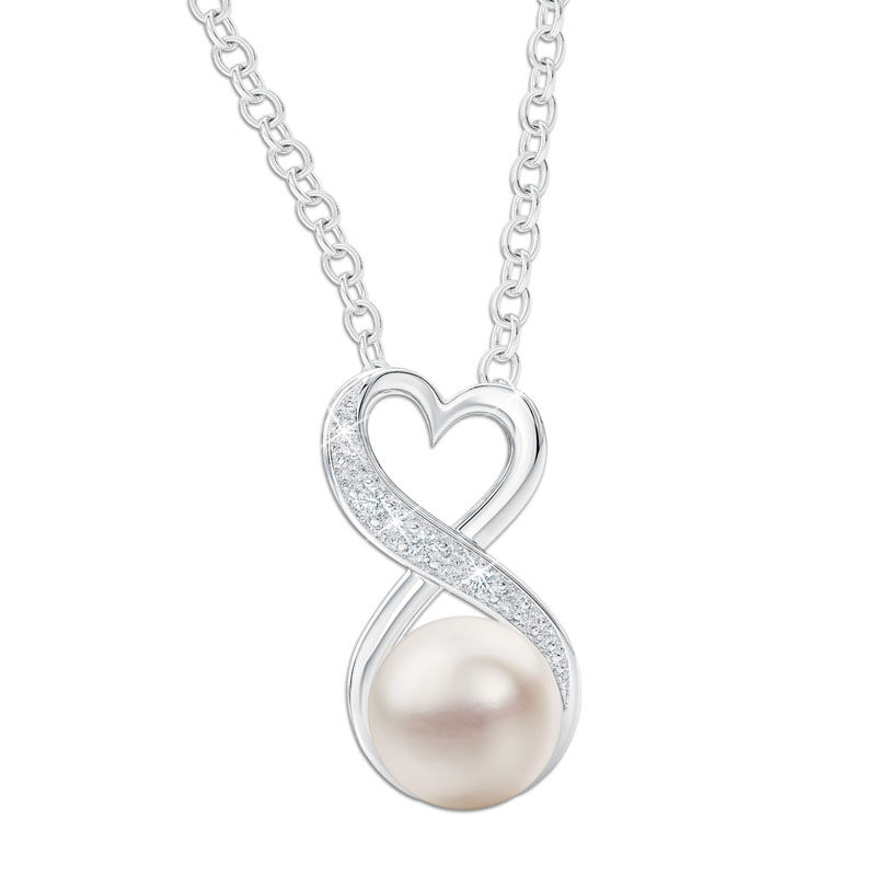 the infinity pearl pendant UK GDIPP a main