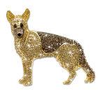 german shepherd crystal brooch UK GSBRO a main