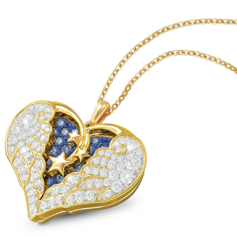 on angel wings remembrance pendant UK OAWP a main