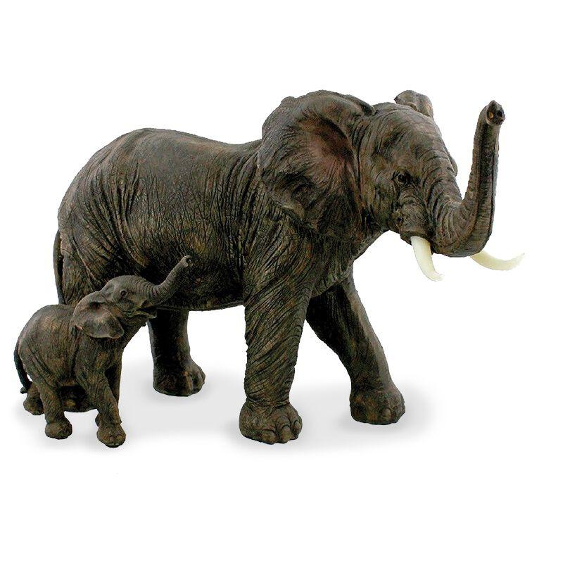 wait up elephant and calf UK WUECM a main