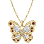 the birthstone butterfly pendant UK BSBUP a main