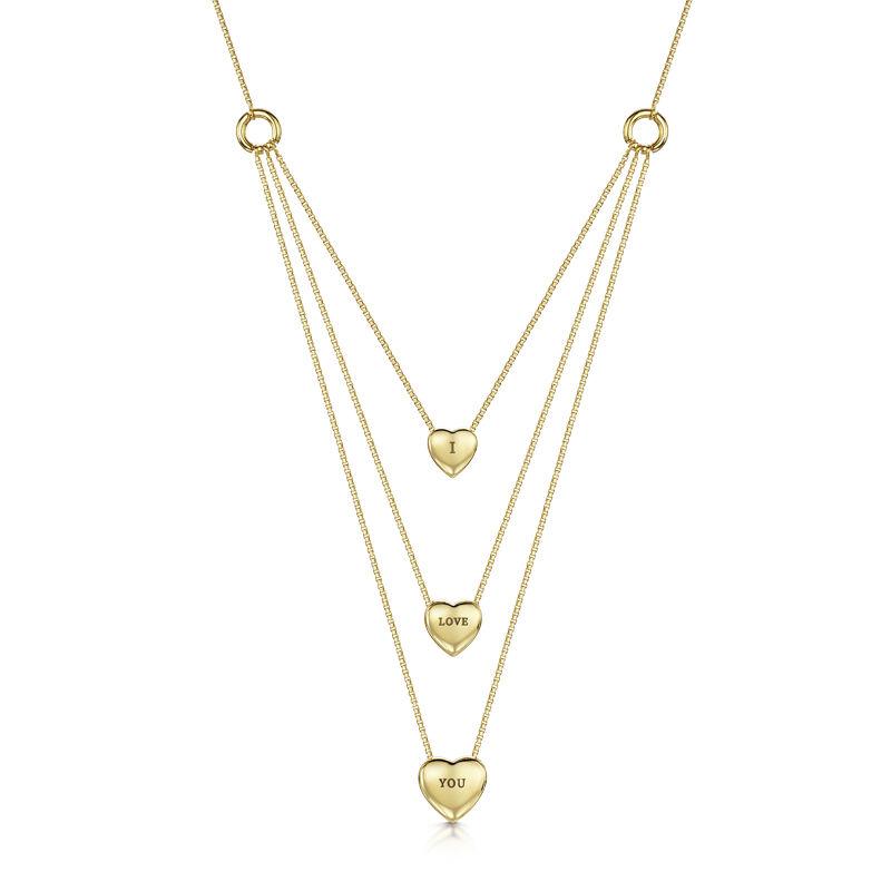 i love you diamond and garnet heart neck UK LYDGHN b two