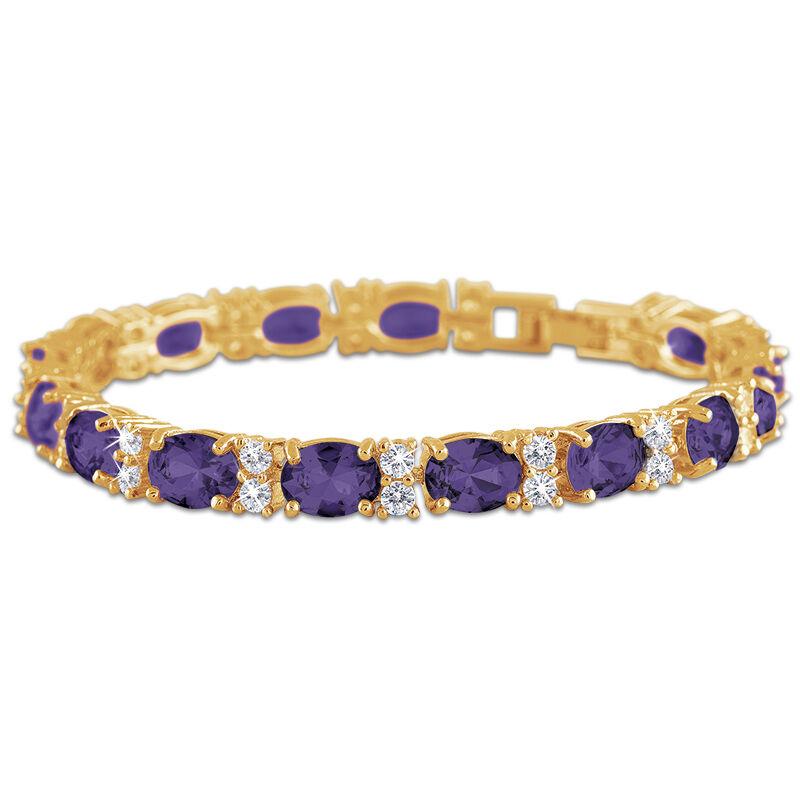 birthstone tennis bracelet UK BDTB2 c three