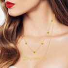 The Birthstone Layered Necklace 6788 0013 m model