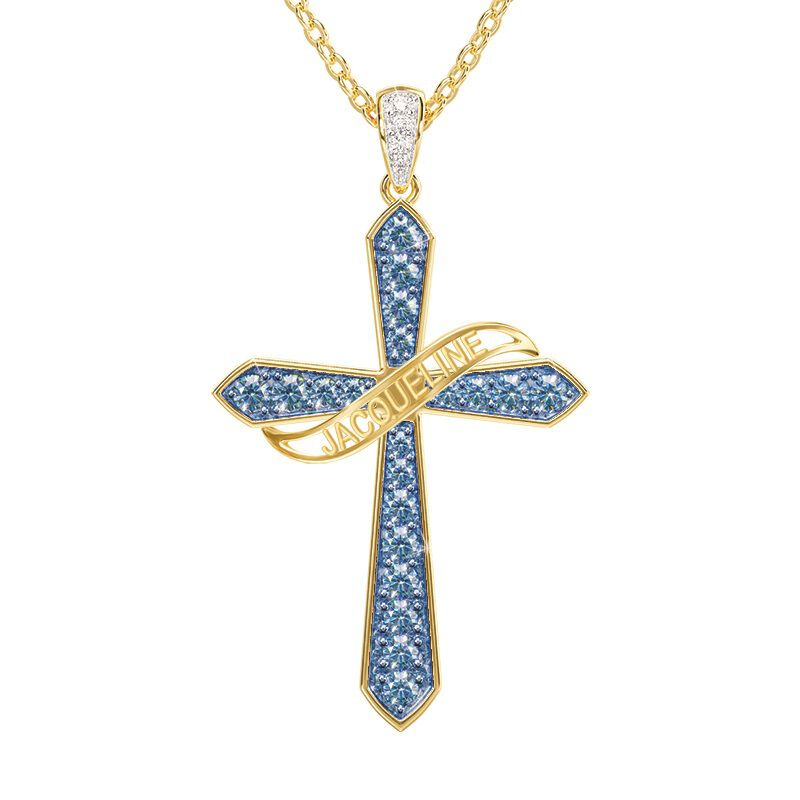 birthstone diamond personalised cross ne UK BSPCN k eleven