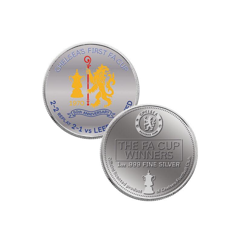 the chelsea fc 999 fine silver fa cup bu UK CH50B b two