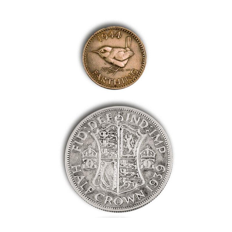 british coins of world war ii UK WW2CR b two