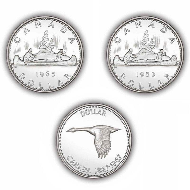 brilliant uncirculated canadian silver d UK CSDC b two