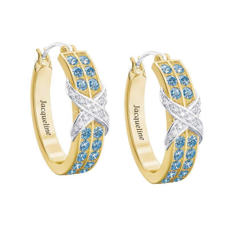 birthstone diamond kiss personalised ear UK BDKPE l twelve