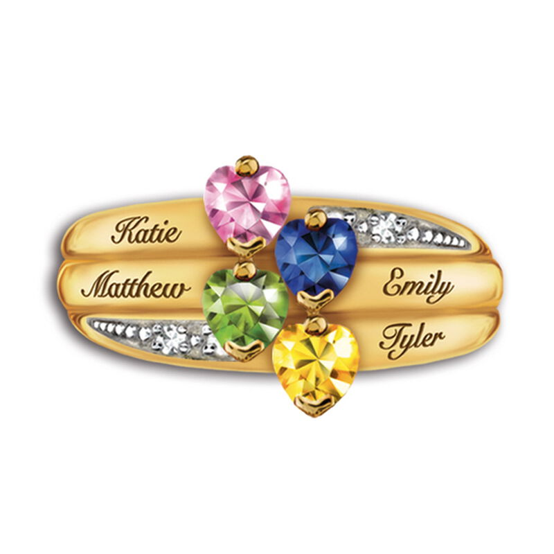 our family birthstone and diamond ring UK FAMRI d four