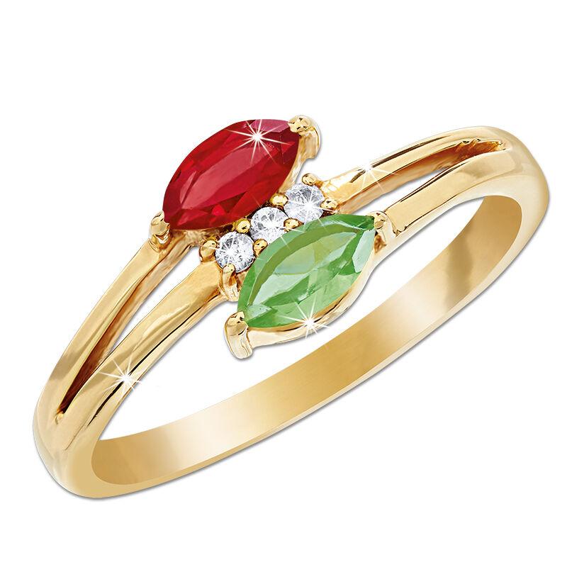 rose garden ruby peridot ring UK RGPR a main