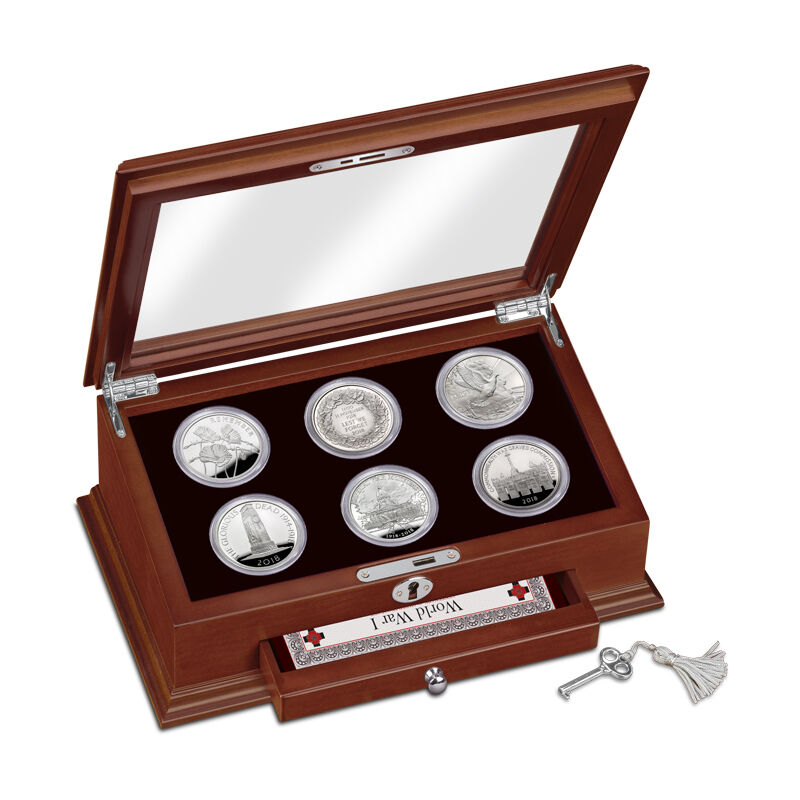 the wwi centenary 5 fine silver proof co UK CWWS b two