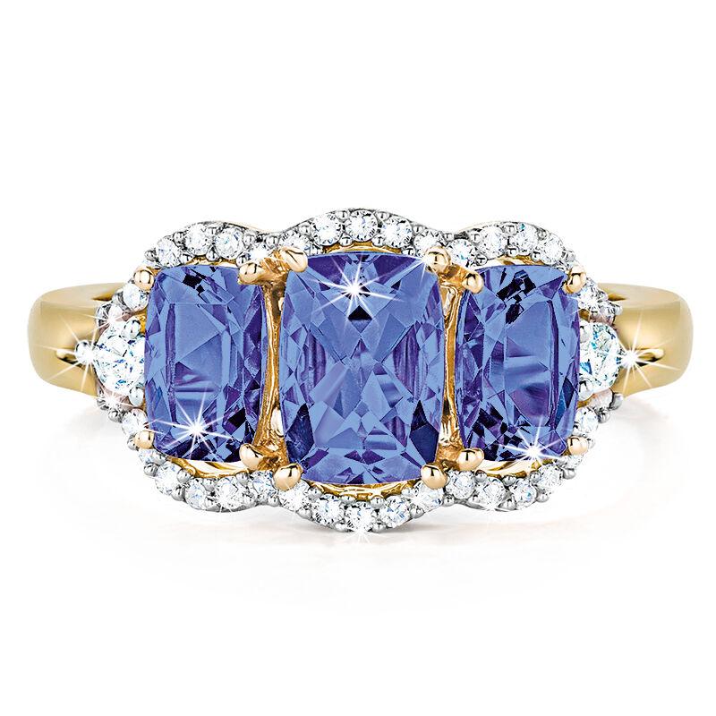 trilogy tanzanite diamond ring UK TDGR b two