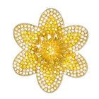 crystal daffodil brooch UK CDFB a main