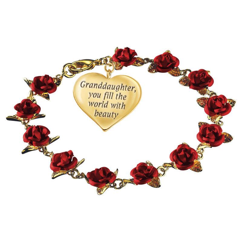dozen roses granddaughter bracelet UK DRGDB a main