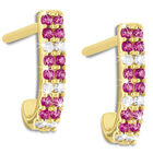 ruby diamond 9ct earrings UK RBDE a main