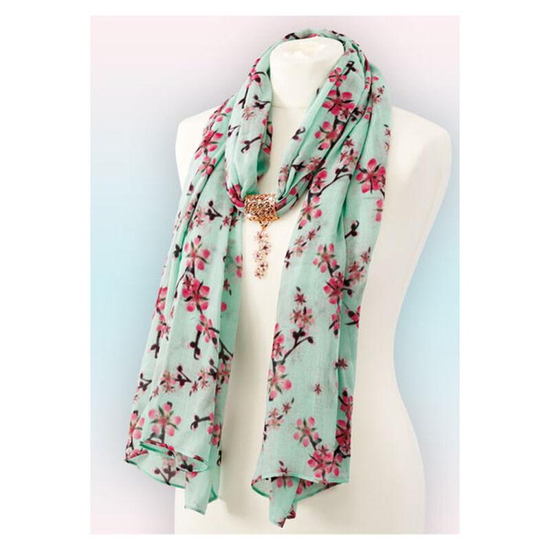 cherry blossom scarf pendant UK CBSP c three