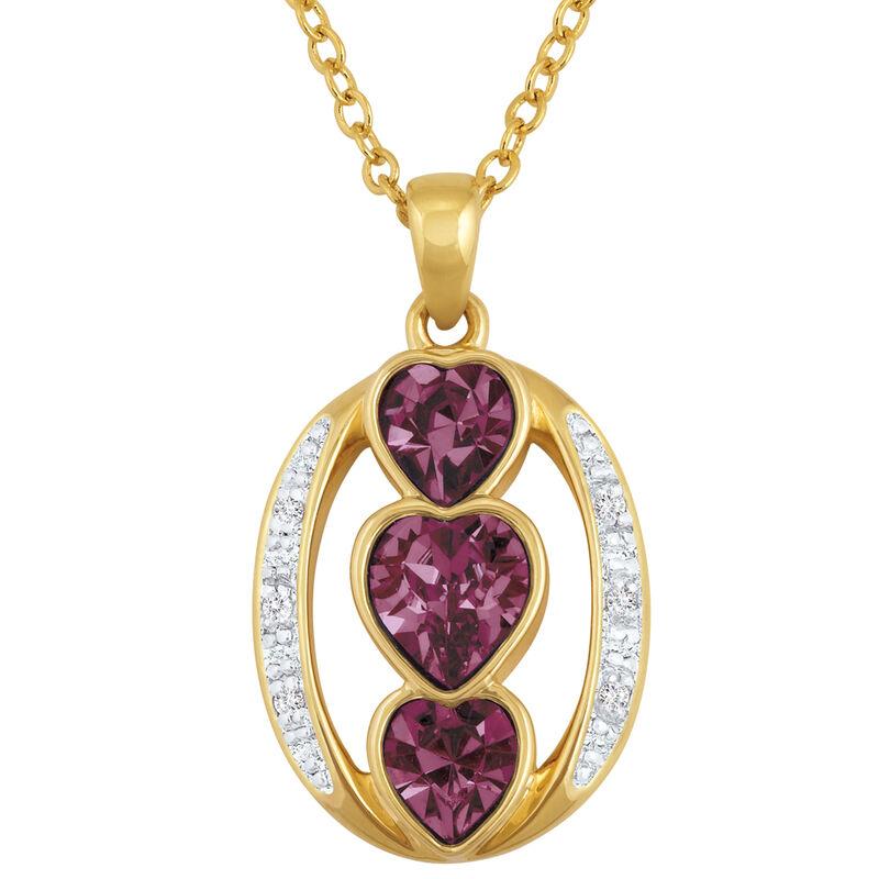 i love you birthstone pendant UK ILYBP2 b two