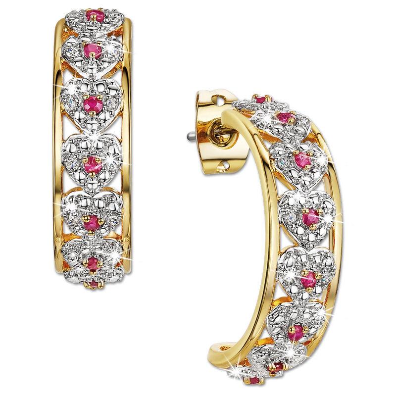 i love you diamond ruby earrings UK LYRDE a main