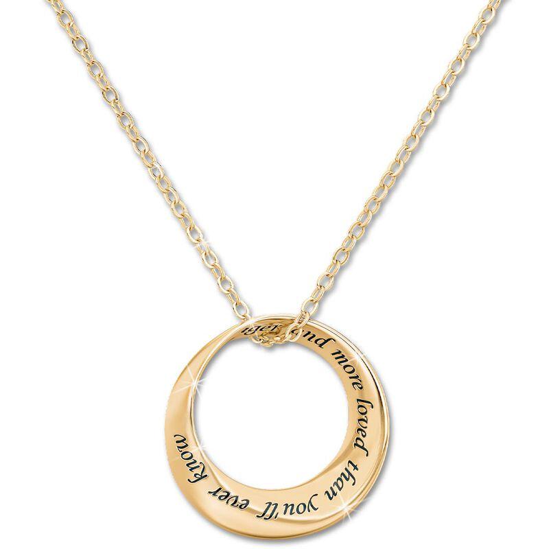 daughter infinity circle diamond pendant UK DICDP a main