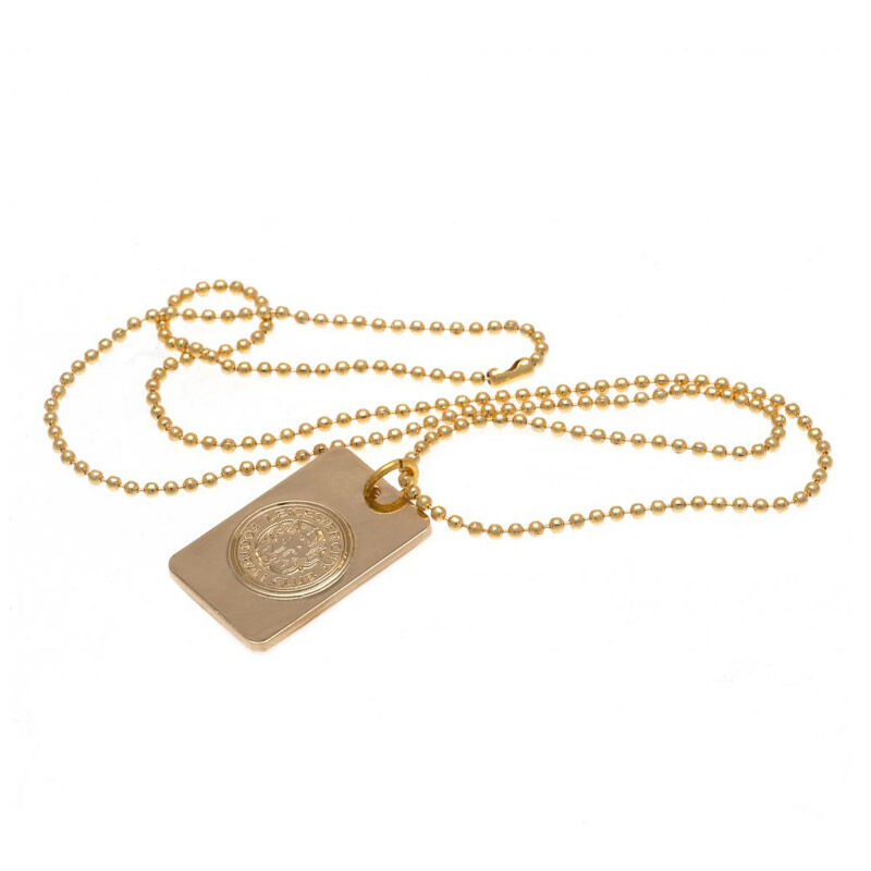 the leicester city gold plated dog tag UK LEGDT b two