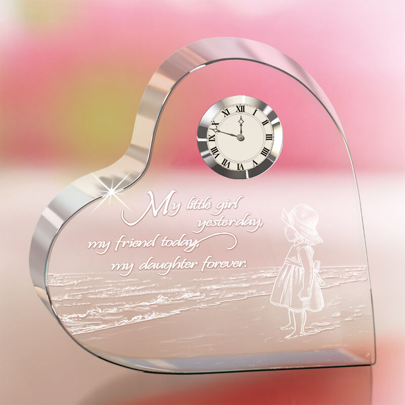my daughter forever crystal desk clock UK MDFCC2 a main