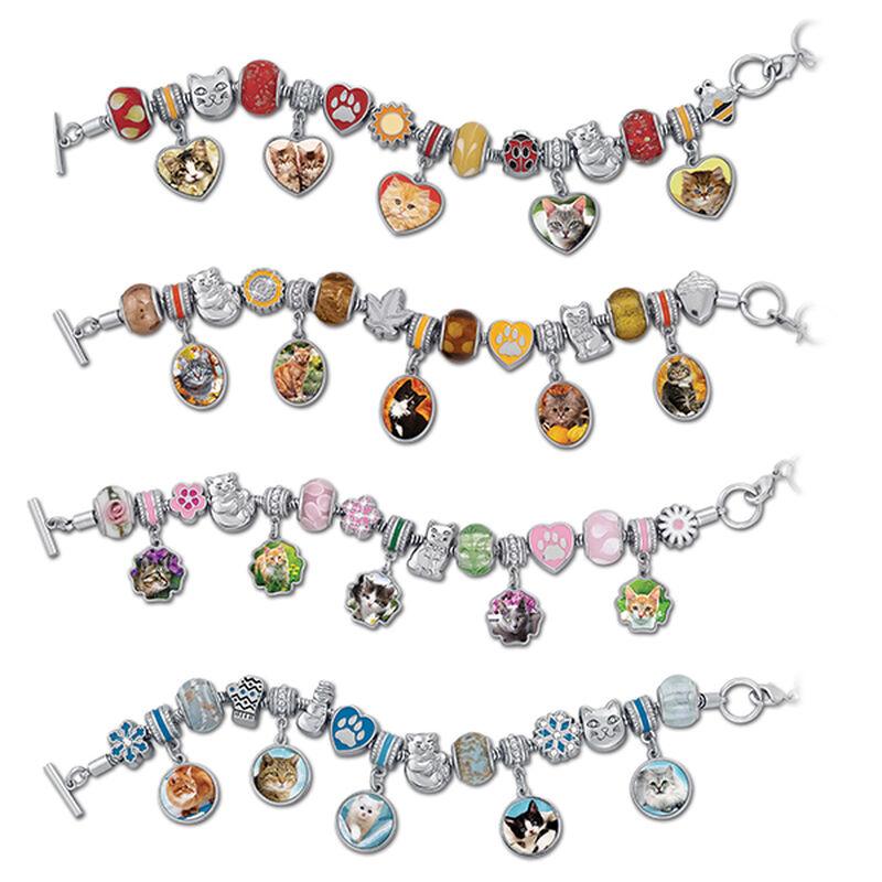 four seasons of cats charm bracelets UK SCTB a main