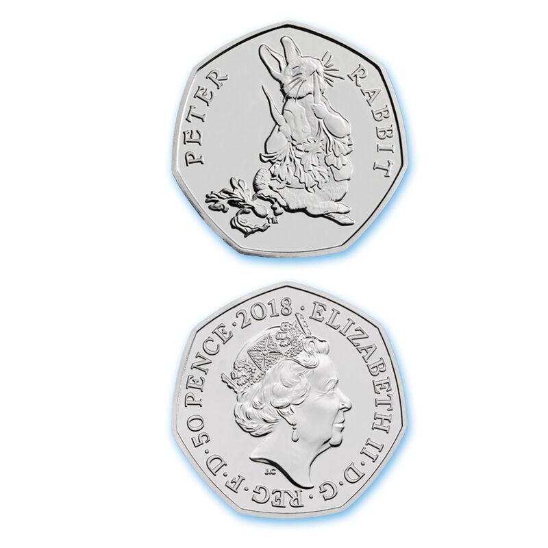 peter rabbit coin sculpture UK RMBPR b two