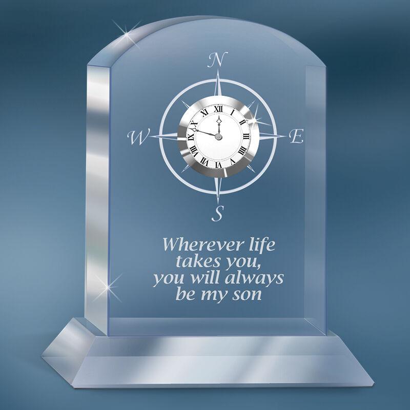 always my son crystal desk clock UK SONC a main