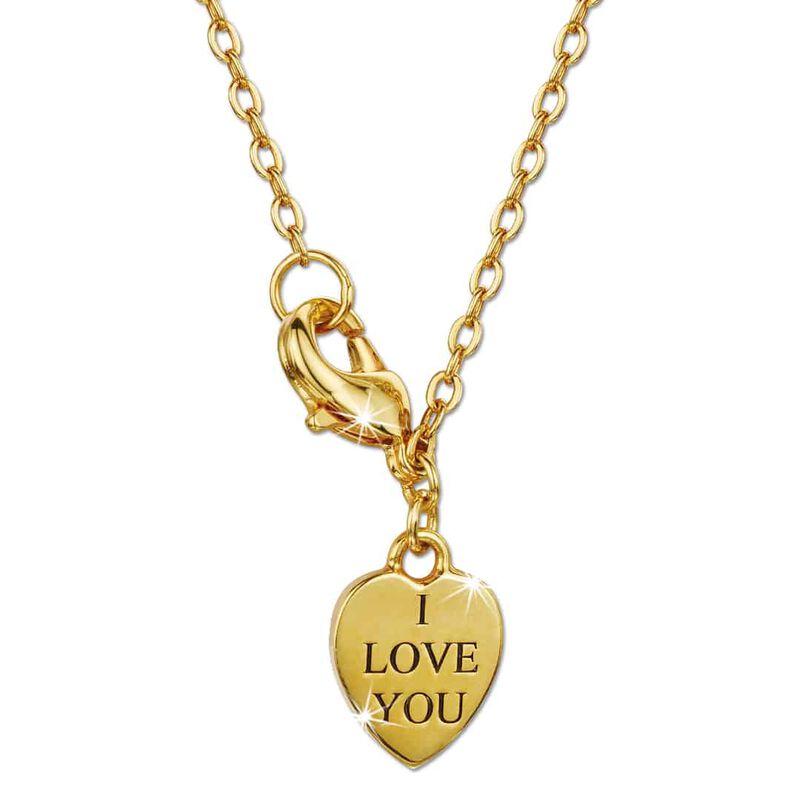 a dozen rubies love knot pendant UK DRLKP b two