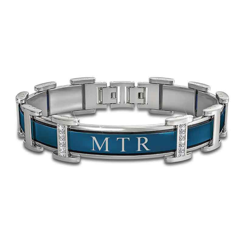 mens personalised dominion titanium brac UK MPDTB a main